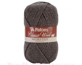 HEATH HEATHER Patons Classic Wool Yarn, Brown Wool Yarn, Felting yarn, medium worsted weight pure wool Feltable yarn 3.5 ounce 100g, 77208 <