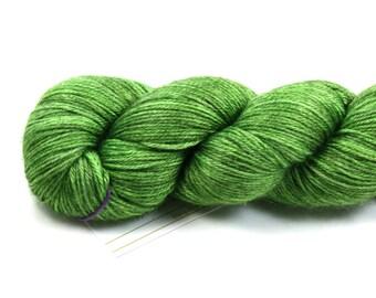 Envy--hand dyed sock weight yarn, merino and silk, (437yds/100gm)