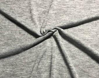 Medium Heather Grey T Shirt Knit, Fabric By The Yard