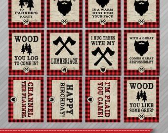 Lumberjack party signs - Lumberjack party decor - Lumberjack Signs - Lumberjack birthday decorations - A beard is a warm hug