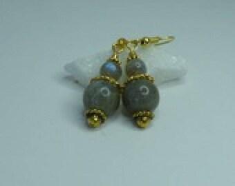 Labradorite very pretty dangle earrings labradorite stone