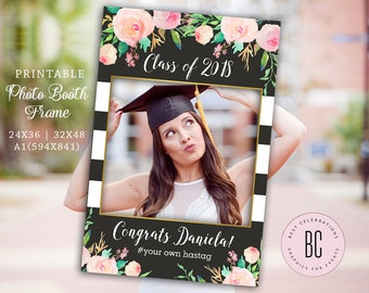 Graduation Party Photo Prop Frame, Grad Photo Prop, Class of 2018, Tassel Was Worth the Hassle, Graduation Party Decorations,