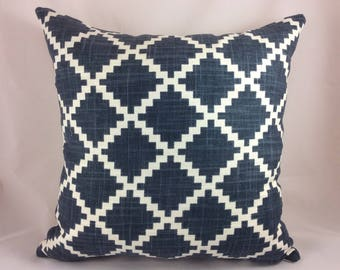 "LuLu DK Designs by Duralee-""GASTON"" in lapis pillow covers"