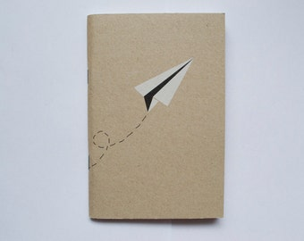 Paper Plane Kraft Lined Mini A6 Notebook