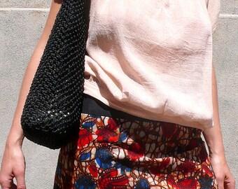 Woman skirt, a pretty flared mini skirt for summer, handmade short skirt, an ethnic skirt in African wax fabric, flower skirt, a resort wear
