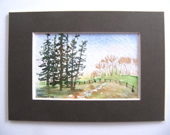 Forest View, Art Cards, Editions & Collectables, Watercolour, Forest, FIelds,