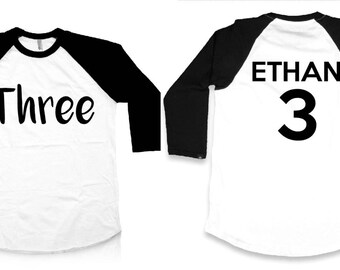 Personalized - Third Birthday - 3rd Birthday Shirt - 3rd Birthday Outfit - Third Birthday Top - I'm This Many - Birthday Outfit