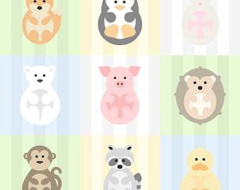 "DUCK Animal Print for Nursery/Kids Room - 8""x8"" Instant Digital Download"