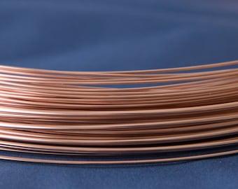Rose Gold-Filled Round Wire 14/20 (Half Hard)
