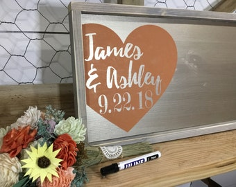 Wedding Guest Book Alternative -  Gold Wedding Sign In - Custom Wedding Guestbook - Gold Guestbook