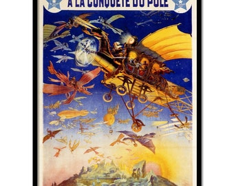 "Vintage style movie poster ""Conquest of the Pole"""