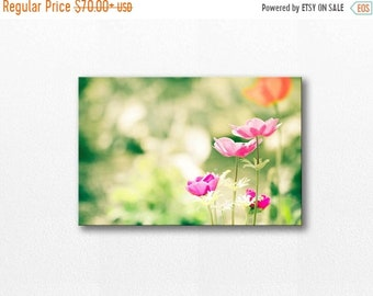 ON SALE flower canvas art flower photography canvas print 12x12 24x36 fine art photography canvas wrap flower photography spring pink lime l