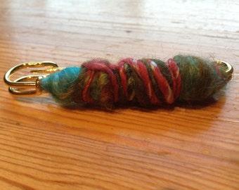 Shawl brooch of hand spun wool