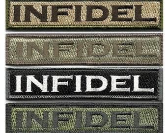 """BuckUp Tactical Morale Patch Hook Infidl Morale Patches 3.75x1"""" Sized"""