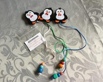 Penguin Felt Bookmark 3 in pack