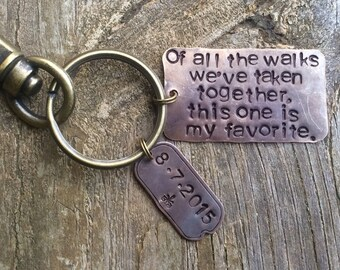 FATHER of the BRIDE Key Chain.Personalized Custom.Wedding Day.Gift for Dad.Valentines Gift for Husband. Newlywed Gift for Him.Cool.HipUnique