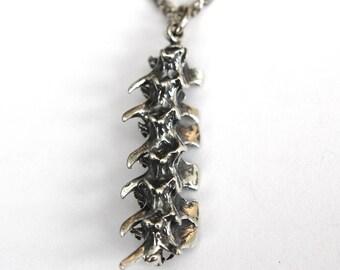 Snake Vertebrae Necklace Silver Rattlesnake Vertebrae Pendant Necklace Snake Vertebrae Jewelry 035