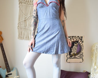 Seventies vintage chambray dress