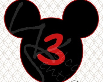 DIGITAL DOWNLOAD - Mickey Mouse Centerpiece parts AGE 3