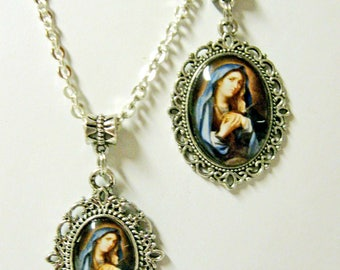 Our Lady of Sorrows two pendant set - AP30-009