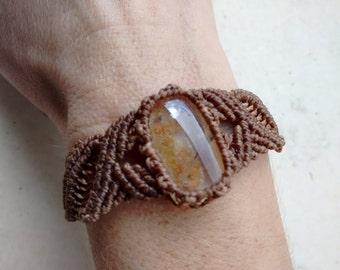 Bracelet macrame, bracelet with stone, bracelets, boho, boho chic, summer, beach, bohemian, gypsy, jewels,