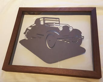Classic Car (Ford Model A) Framed Papercut - Classic Vintage Father's Day Gift Picture Frame Print Cut