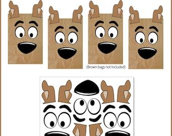 Scooby Doo Favor Bags Printables -- DIGITAL -- Party Bag Printables