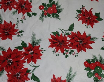 Exceptionnel Oblong Vinyl Poinsettia Tablecloth