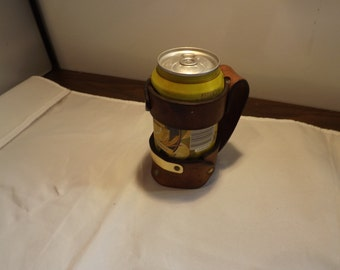 Leather Beer Can Holder Poor Mans Stein