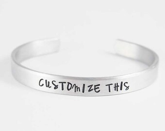 custom bracelet, personalized, hand stamped, engraved bracelet, personalized cuff, Valentine's Day, friendship gift