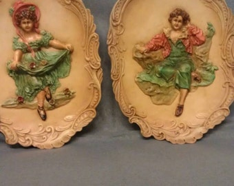 Vintage His & Hers Wall Plaques