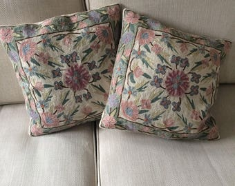 Crewel work cushions