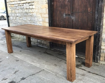 Fully Restored Oak Refectory Dining Table