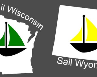 Sail Decal - Wisconsin, Wyoming