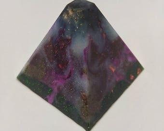 Space Gift - Onyx Pyramid -Nebula Gift - Galaxy Pyramid - Nebula Decor - Onyx Gift – Galaxy Gift– Healing Crystal – Work Décor – Home Décor