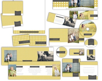 Modern Dot - Photography Marketing Package - 11 Customizable Items - Photoshop Template Set (19 Files Total) MC8003