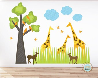 Giraffes and birds only