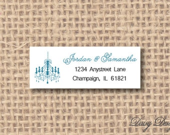 Return Address Labels - Chandelier Silhouette - 120 self-sticking labels
