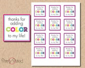 Items Similar To Diy Printable Quot Thanks For Adding Color To