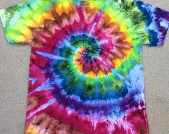 Youth, Kids, Large, Rainbow Swirl Ice Dye Tie Dye