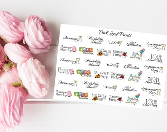 You're Invited! / Event Tracker/  Planner Stickers