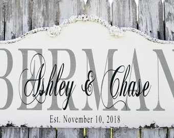 Personalized FAMILY NAME SIGN | Family Established Sign | Rustic Last Name Sign | Wedding Sign | Rustic Wood Sign | Custom Wooden Sign