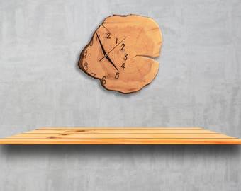 Wall clock - wood offbeat