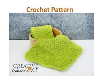 Tunisian Crochet Pattern, Spa Cloth Tutorial, Honeycomb Pattern, Wash Cloth Tutorial, Tunisian Pattern, Instant Download, Wash Cloth Pattern