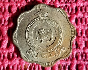 Sri Lanka lion 10 cent coin