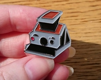 Classic instant camera enamel pin badge