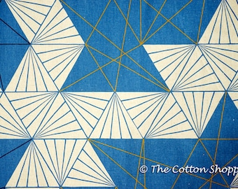 Tayutou Geometric Triangles Fabric ~ Canvas Fabric ~ Japanese Fabric ~ Linen Fabric ~ Cotton Fabric ~ Apparel Fabric ~ Home Decor Fabric