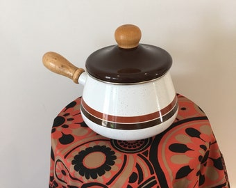 1970's Vintage fondue / chafing pot with lid