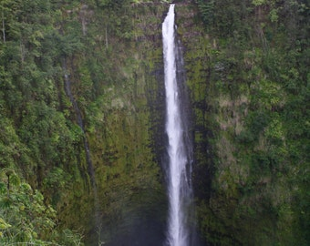 Waterfall photograph or canvas print, 5x7, 8x10, 11x14, 16x20, Akaka Falls, Akaka Falls State Park, Big Island, Hawaii