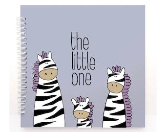 ZEBRA - Modern Baby Book, Baby Memory Book, Baby Shower Gift, Baby Journal, Baby Shower, Baby Album, Keepsake